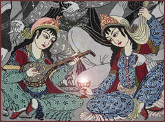 Persian feast (Banafsh*) Tags: party feast iran ایران persiancarpet saky قالی persiantraditionalmusic قرش ساقی بزمعرفانی