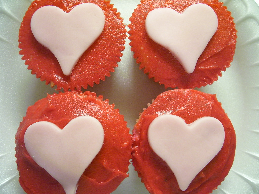 Heart cupcakes from Petite Treat