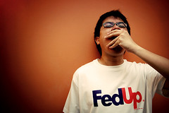 Federal Upset (Shermeee) Tags: up d50 nikon yawn sigma sleepy spoof fedex fed 1850mm