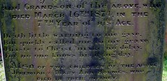 death little warning to me gave (annette62) Tags: grave yorkshire gravestone churchyard epitaph haworth