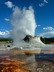 Castle Geyser Erupting - Yellowstone National Park (BigSkyKatie) Tags: hot castle nature volcano nationalpark spring ancient natural cone tortoiseshell mat yellowstonenationalpark yellowstone algae geology geyser picturesque bacteria geothermal thermal channel eruption feature cinder plume runoff bigskycountry naturesfinest castlegeyser bifurcated uppergeyserbasin supershot kartpostal impressedbeauty superaplus aplusphoto diamondclassphotographer frhwofavs brillianteyejewel platinumheartaward natureoutpost thermophile betterthangood goldstaraward tortoiseshellspring absolutelystunningscapes qualitypixels overtheshot katielasallelowery natureandnothingelse obq thegalleryoffinephotography