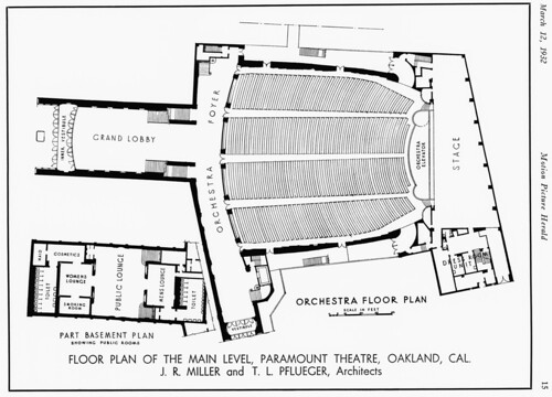 Oakland Ca Paramount Theater Floor Plan 1932 A Photo On Flickriver