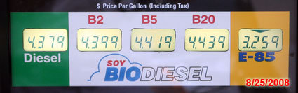 Biofuel pump 8/25/2008