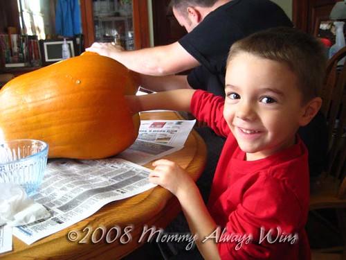 Nick & his pumpkin