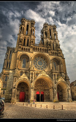 Laon Cathedral (lyon photography) Tags: sky france church square gothic hdr laon jameslyon wwwlyonphotographycouk laoncatherdral