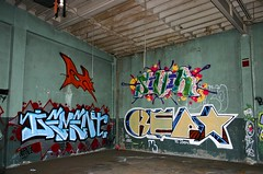 Maska, Sivik, Dement, Kept (funkandjazz) Tags: california 2004 kept graffiti oakland eastbay fools dement kil maska sivik maskarade