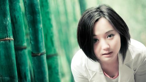 [フリー画像] 人物, 女性, アジア女性, 中国人, ショートヘア, 201004010100