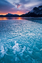 The last one... (Mac Danzig Photography) Tags: lake snow canada mountains ice sunrise landscape rocky abraham alberta canadianrockies tnc11