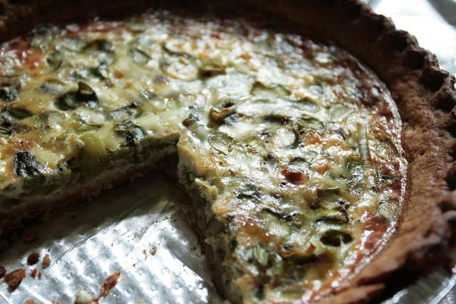 leek & asparagus quiche by anna