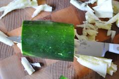 coring zucchini