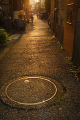 (noji-ichi) Tags: leica light sunset reflection japan tokyo alley dusk sony   nostalgic     elmarit leitz nex3