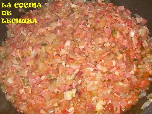 Vieiras al horno sofrito tomate