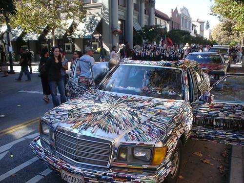 Mercedes Pens Art Car during Art Car Fest in Santa Cruz CA