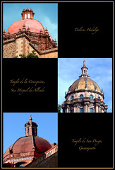 Cupulas (Juan Antonio Garza Lozano) Tags: trip travel viaje church mexico photography photo nikon antique catedral sanmigueldeallende guanajuato iglesias sanmiguel cupulas vacations 2007 doloreshidalgo rgv garza travelphotography d80 mywinners artesacro juangarza