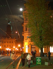 Moon (Oleksandr Bondar) Tags: light moon night lviv rynok
