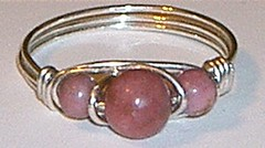 Rhodonite and Sterling Silver ring