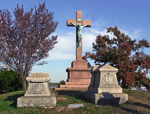 Calvary Roman Catholic Cemetery, in Saint Louis, Missouri, USA - bishop's tombs.jpg