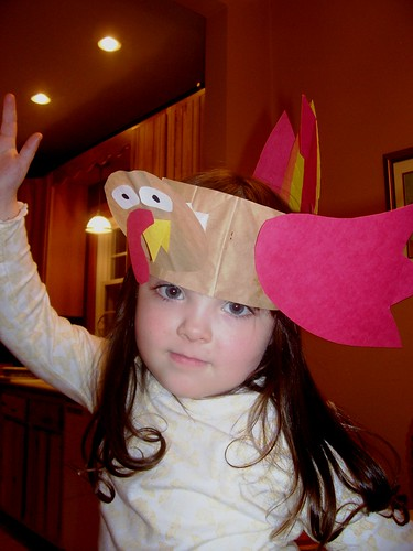 Julia in her turkey hat