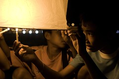 Loy Kratong Festival (lee.starnes) Tags: light beach water festival delete10 kids night canon delete9 thailand delete5 eos delete2 delete6 delete7 smoke save3 delete8 delete3 delete delete4 save save2 save4 lee thai lantern phuket patong float delete11 loy loykratong kratong xti 400d challengeyouwinner leestarnes