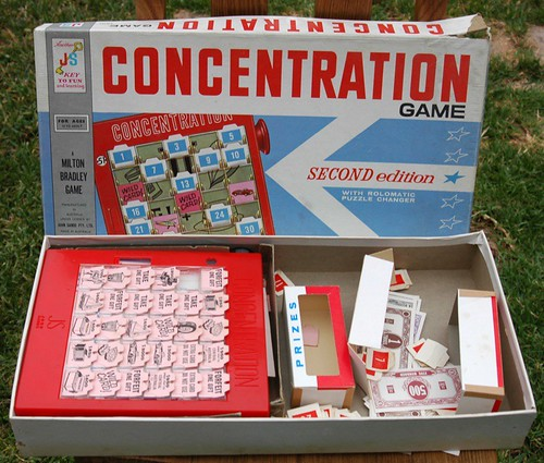 vintage concentration game