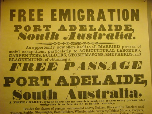 From the Migration Museum, Adelaide