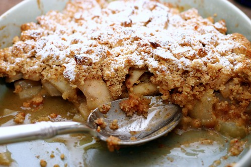 vanilla brown butter pear crisp