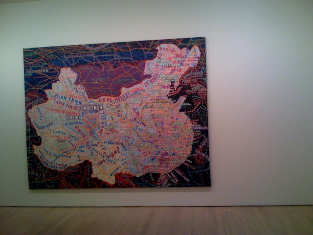 Paintings from Paula Scher at Maya Stendhal Gallery