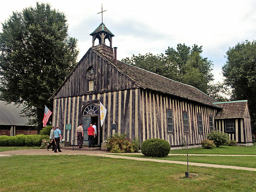Holy Family Roman Catholic Log Church, in Cahokia, Illinois, USA - exterior.jpg