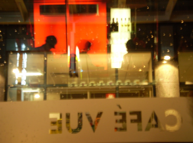 Cafe Vue reflection (photo courtesy of Michael)