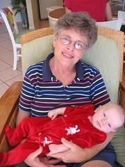 Grandma and Fay on xmas