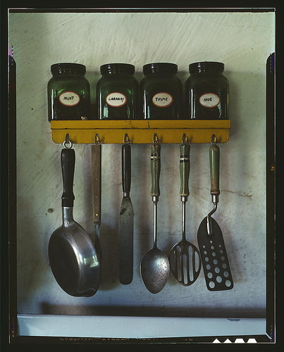 Kitchen utensils by Library of Congress