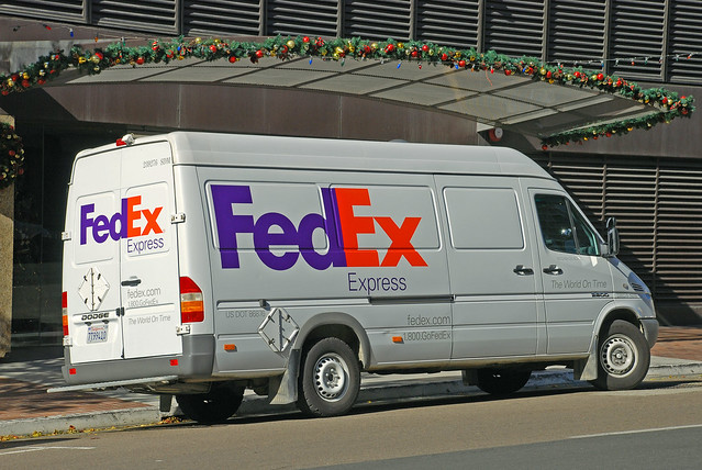 sandiego delivery dodge van fedex courier sprinter federalexpress