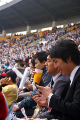 Korean Baseball Game Crowd