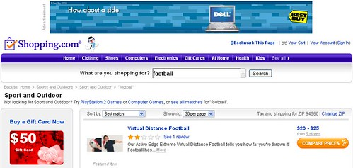 Shopping.com Football Search