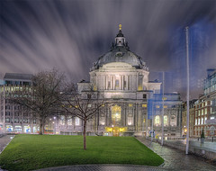 Methodist Central Hall Westminster (Marc Pinter) Tags: city travel light london church westminster night aquarium hall britain background united religion central royal kingdom methodist methodism hdr johnwesley illuminatio