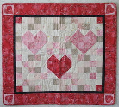 Second Sample Mosaic Hearts Quilt