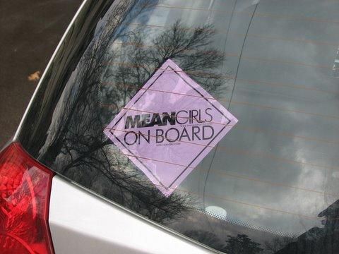 mean girls on board sticker