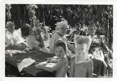 sinister family picnic (sparkleneely) Tags: family vintage mom picnic dad 1950s finlay