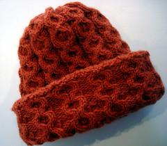 Honeycomb Cabled Hat, cables