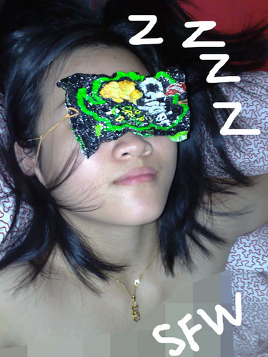 Sleeping mask.