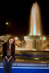 Sarah by the fountain