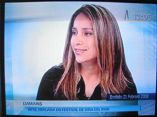 Damaris, cantante de musica andina contemporanea