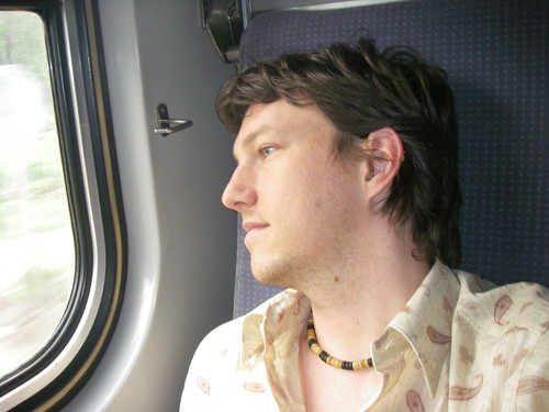 Curtis on the train
