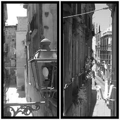Vicoli tropeani (vilom) Tags: blackandwhite bw house alley italia case alleyway lane vicolo markettown borgo calabria vie tropea paese bianoenero