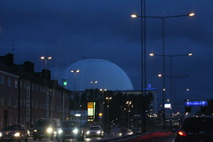 Globen by night