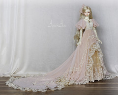 Rose Bouquet (AyuAna) Tags: bjd ball jointed doll dollfie ayuana design handmade ooak clothing clothes dress set historical fantasy edwardian victorian style little monica littlemonica chloe harmony whiteskin
