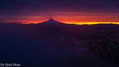 Portland sunrise (Tri Minh) Tags: portland portlandor pittockmansion sunrise fog cityscape city oregon northwest pacificnorthwest pacific nw mt hood mthood