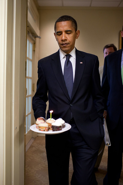 Barack Obama cupcake birthday