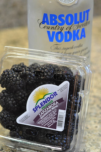 Berries and vodka