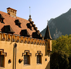 Hohenschwangau and Neuschwanstein Castles (Dwood Photography) Tags: germany bavaria europe 2006 neuschwanstein hohenschwangau europe2006 dwoodphotography dwoodphotographycom